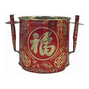 Red & Gold Joss Pot (Large) (鐵香爐)