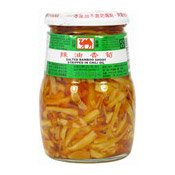 Salted Bamboo Shoot Strips in Chilli Oil (駱駝牌辣筍尖)