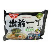 Instant Noodles (Black Garlic Oil And Artificial Pork Flavour) (出前一丁香蒜猪骨湯面)