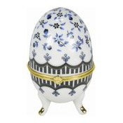 White Ceramic Egg Trinket Box