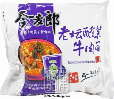 Big Pack Instant Noodles (Hot & Sour Beef) (今麥郎酸菜牛肉麵) - Click Image to Close
