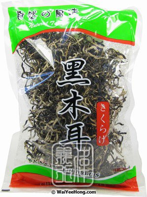 Dried Black Fungus Strips (Pak Pui Wood Ear) (木耳絲) - Click Image to Close