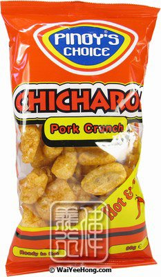 Chicharon Pork Crunch Scratchings (Hot & Spicy) (香脆炸豬皮 (香辣)) - Click Image to Close