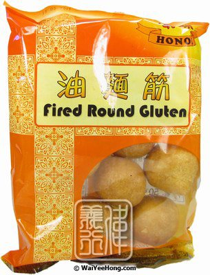 Fried Round Gluten (油麵筋) - Click Image to Close