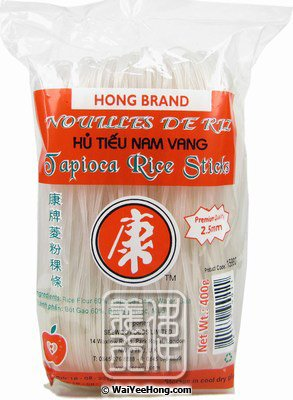 Tapioca Rice Sticks Noodles (2.5mm) (Hu Tieu Nam Vang) (康牌菱粉稞條) - Click Image to Close
