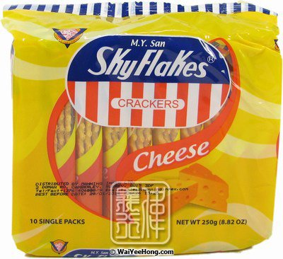 SkyFlakes Crackers (Cheese Flavour) (空中霸王芝士餅) - Click Image to Close