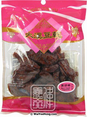 Dried Beancurd Dougan (Black Pepper Flavour) (大溪豆乾 (黑胡椒)) - Click Image to Close
